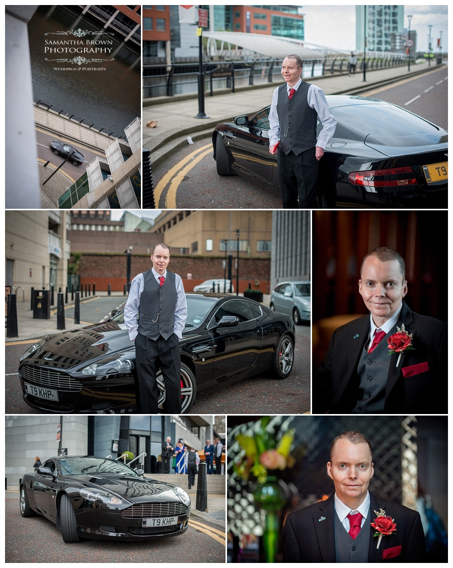Mike the groom with car outside Malmaison Liverpool