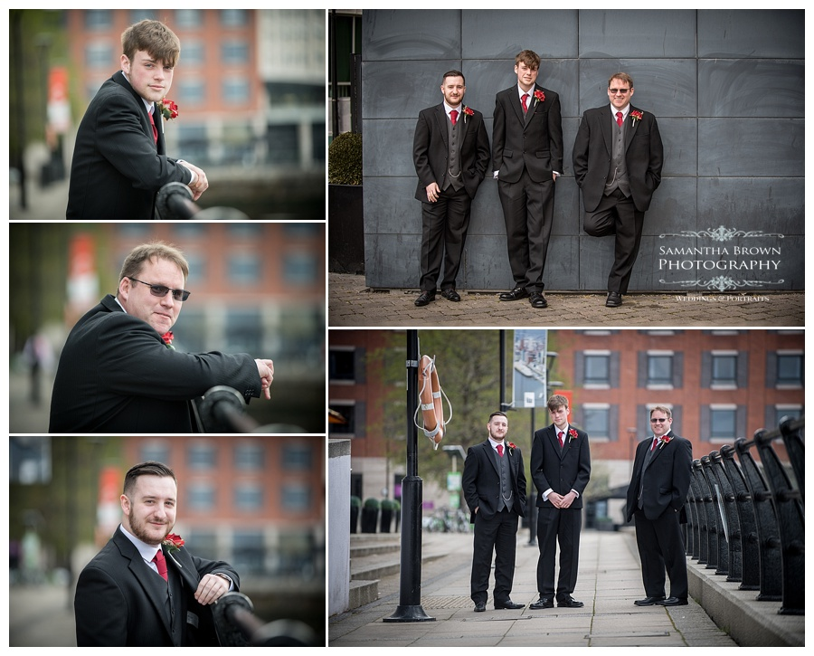 Groomsmen at Malmaison Liverpool