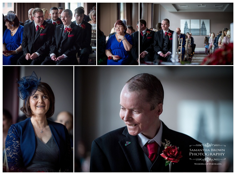 wedding ceremony at Malmaison Liverpool