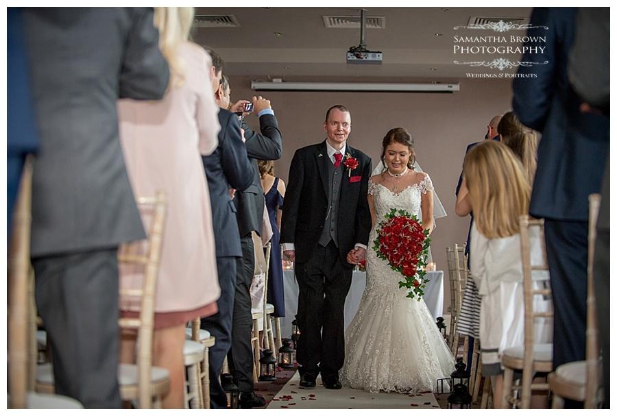 wedding Ceremony, walking down the isle at Malmaison Liverpool