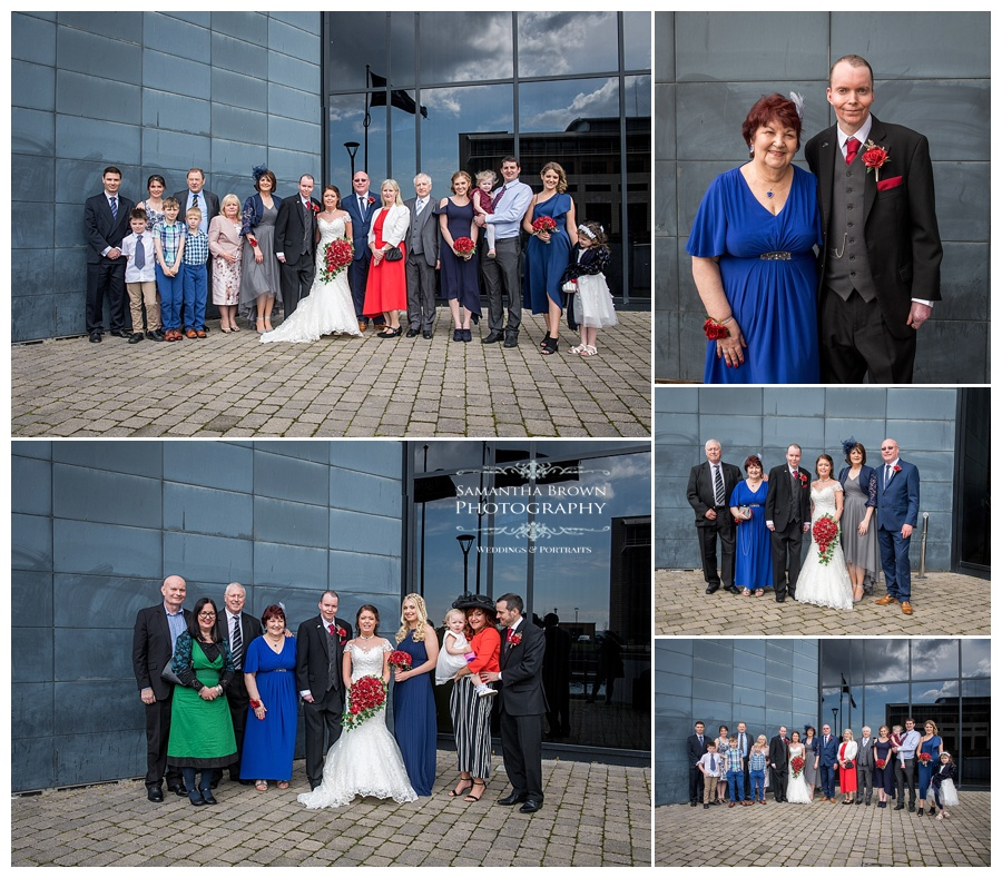 wedding group shots at Malmaison Liverpool