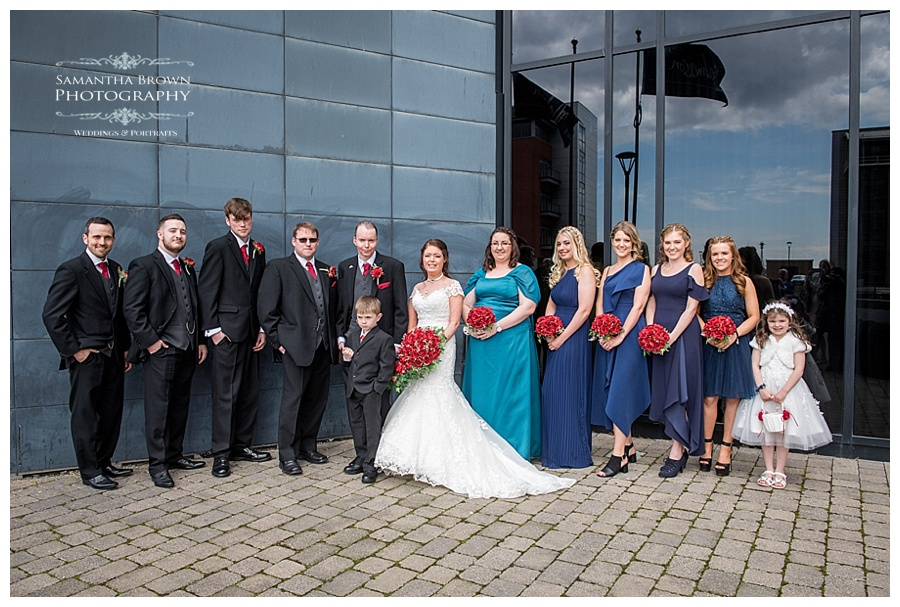 wedding bridal party shots at Malmaison Liverpool