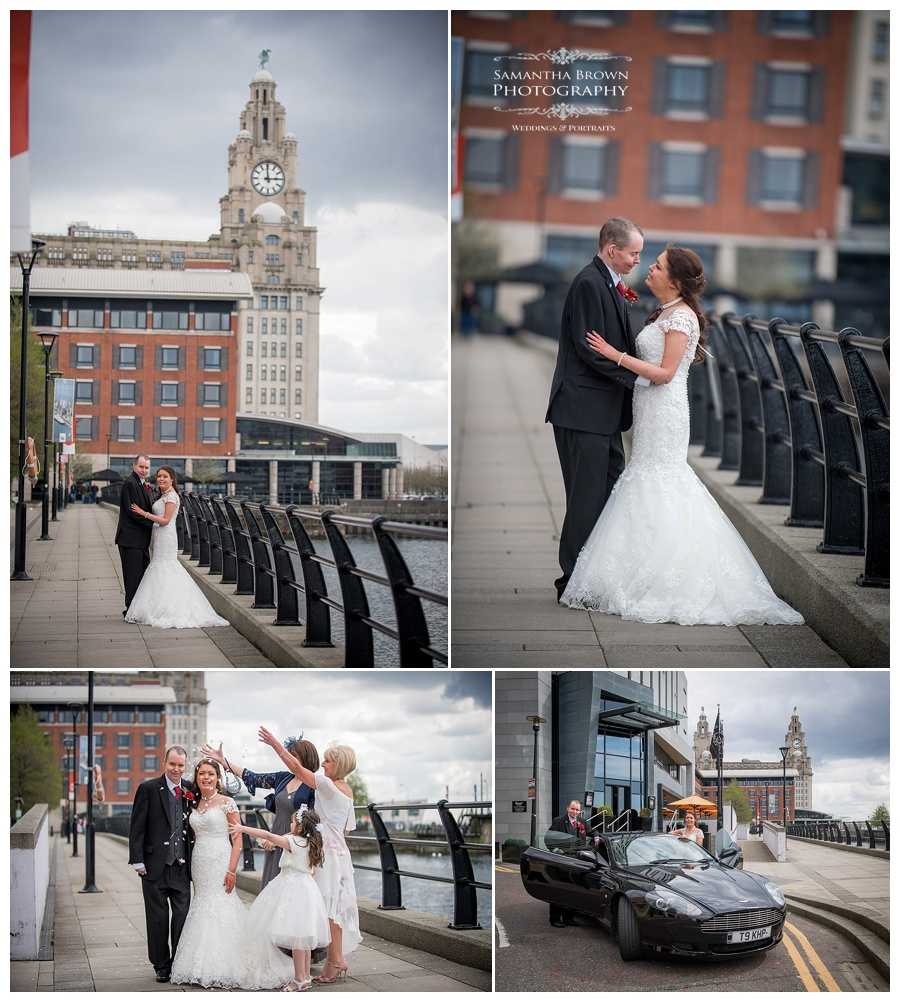 wedding couple shots at Malmaison Liverpool