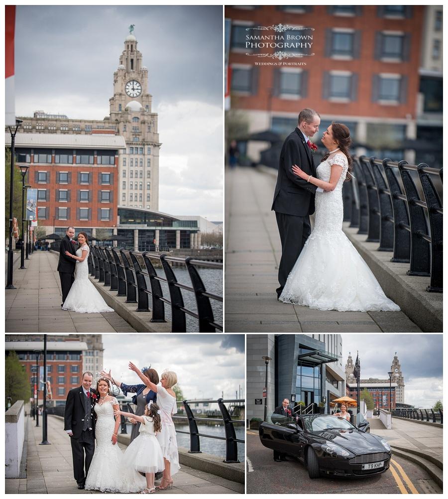 wedding couple shots at Malmaison Liverpool