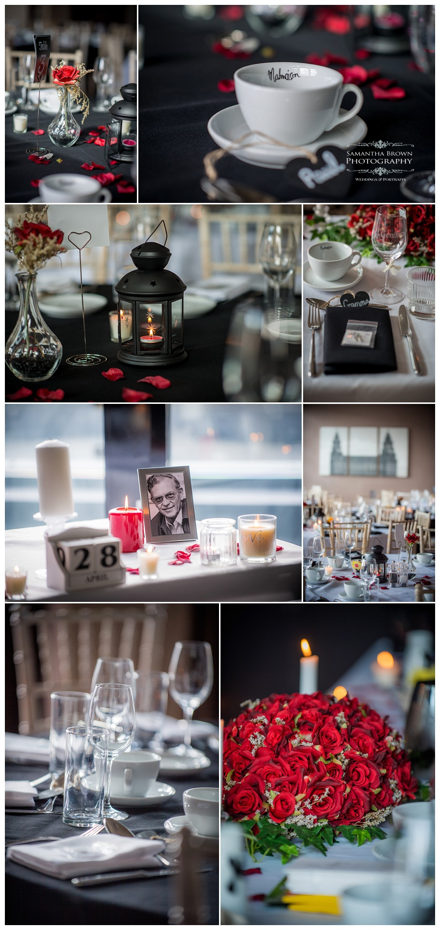 wedding table details at Malmaison Liverpool