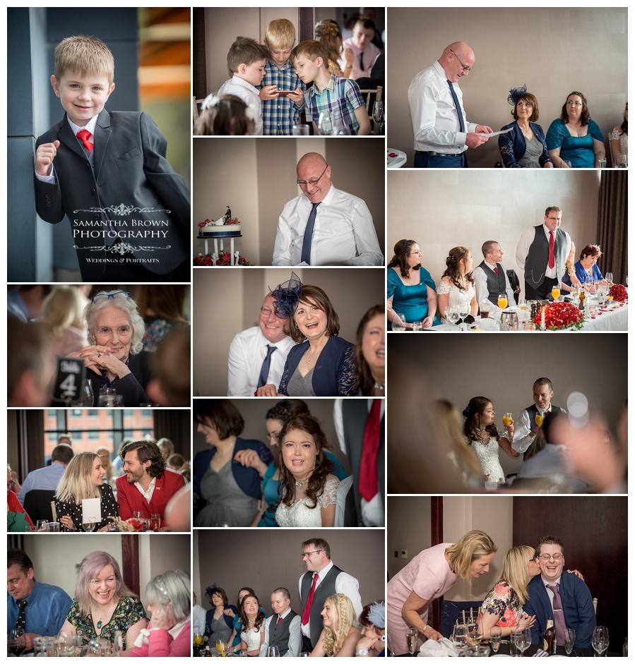 wedding speeches shot at Malmaison Liverpool