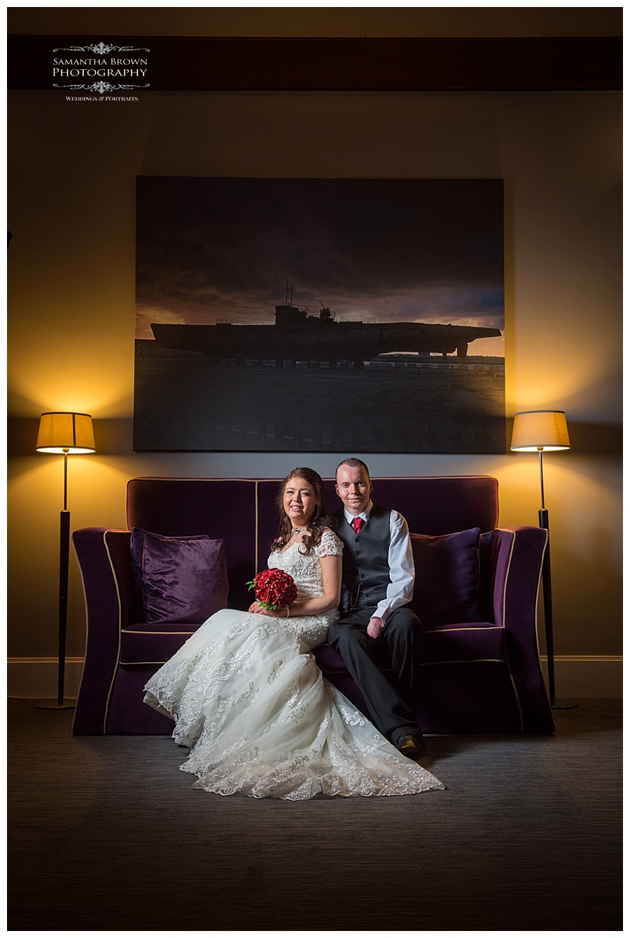 Bride and groom at Malmaison Liverpool