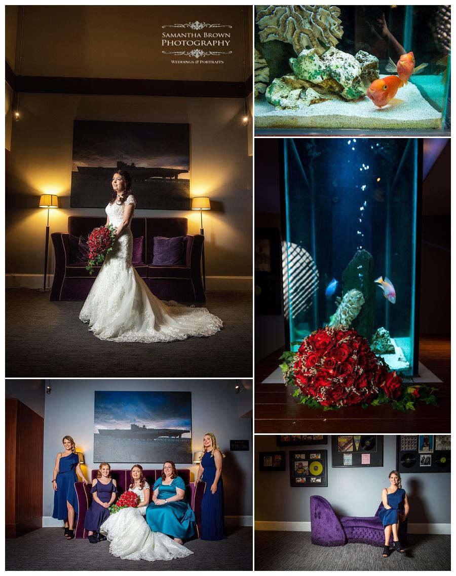 bride and bridesmaids at Malmaison Liverpool