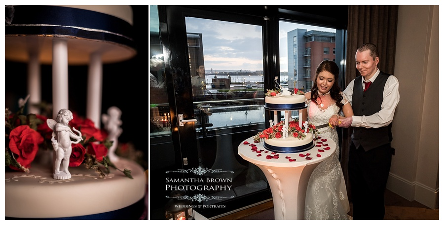 cake cutting at Malmaison Liverpool