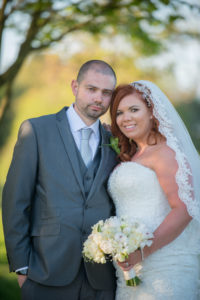 Bride and groown at Formby Hall